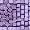 20 x 6mm Czech tiles in Pastel Light Rose