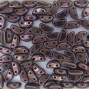 25 x Half Moon beads in Black Lila Vega Lustre