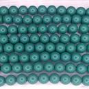 10 x 8mm Fiesta pearls in Green Jade