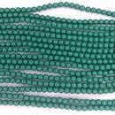 150 x 3mm Fiesta pearls in Green Jade