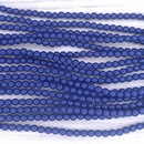 150 x 3mm Fiesta pearls in Royal Blue