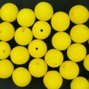 6 x 10mm round beads in matt Yellow (1960s)