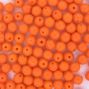 20 x 5mm round beads in Orange (1970s)