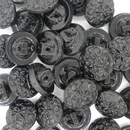 13mm Black glass button B23 (vintage)