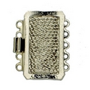 Claspgarten Silver clasp with 5 rows 13725 - 12x20mm