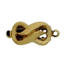 Claspgarten shaped Gold clasp with 1 row 13828 - 13x8mm