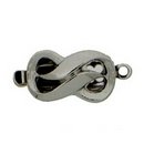 Claspgarten shaped Silver clasp with 1 row 13828 - 8x13mm