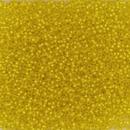 005F - 5g Size 15/0 Miyuki seed beads in Matt Silver lined Yellow
