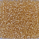 003F - 10g Size 11/0 Miyuki seed beads in Matt Silver lined Gold