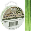5m of 0.8mm Beadsmith Chinese Knotting Cord in Emerald