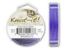 5m of 0.8mm Beadsmith Chinese Knotting Cord in Purple