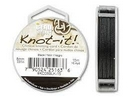 5m of 0.8mm Beadsmith Chinese Knotting Cord in Black