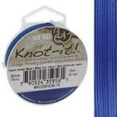 5m of 0.8mm Beadsmith Chinese Knotting Cord in Neon Dark Blue