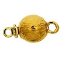Claspgarten Gold textured clasp with 1 row 13795 - 6mm