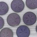 Cab139 - 21mm cabochon in Matt Backlit Purple Haze with Snowflake