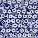 5g x 3mm seed beads in Blue and White (Vintage)