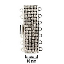 Claspgarten Silver textured clasp with 7 rows 13517 - 11x37mm