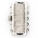 Claspgarten Silver clasp with 5 rows 13726 - 26.5x12mm