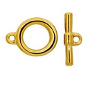 Claspgarten Gold Toggle clasp with 1 row 12865 - 12mm