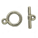 Claspgarten Silver Toggle clasp with 1 row 12865 - 12mm