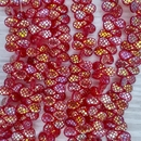 45 x pip beads in Siam Red with laser etched Crocodile