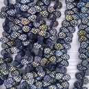 45 x pip beads in Matt Black with laser etched Crocodile