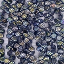 45 x pip beads in Black with laser etched Crocodile