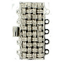 Claspgarten Silver textured clasp with 5 rows 13521 - 26x11mm