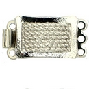 Claspgarten Silver clasp with 3 rows 13724n - 10x18mm