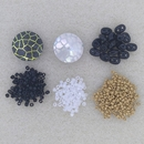Kit 5 - Opposites Attract with Silver seed beads for Jean Power's Summer 2021 Beadalong kit - pre order for posting 1st July
