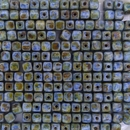 50 x 4mm cubes in Opaque Blue Picasso