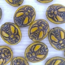 22x18mm Honey Bee beads in Opal Yellow and Black