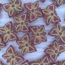 5 x Butterfly beads in Matt Siam Ruby/Gold (15x12mm)
