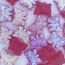5 x Butterfly beads in Siam Ruby AB (15x12mm)